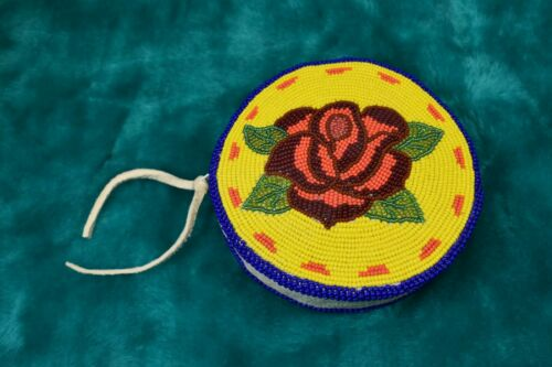 Native American Beaded Purse, Shoshone Rose Motif