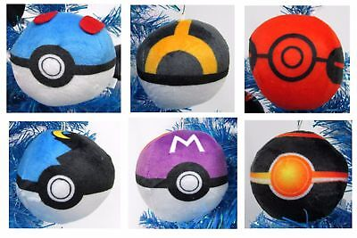 Pokemon Catchers Christmas Ornaments 6 Piece Set Pokeballs](Pokemon Ornaments)