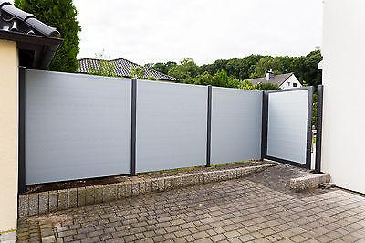 Sichtschutzzaun, Aluminiumzaun, Gartenzaun, Schmuckzaun, Wind- und Wetterschutz