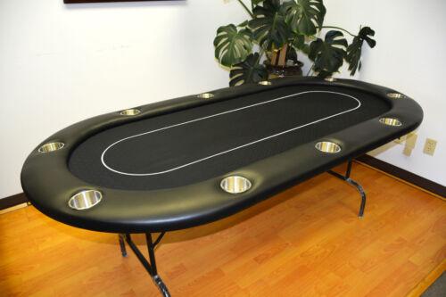 """MRC 10 Players 96"""" Folding Legs Black Color Poker Table C 40-96"""