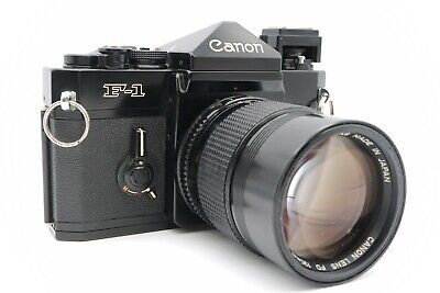 <NEAR MINT> CANON SLR F-1 Late type w/ NEW FD 135mm F/2.8 Lens from Japan #20995