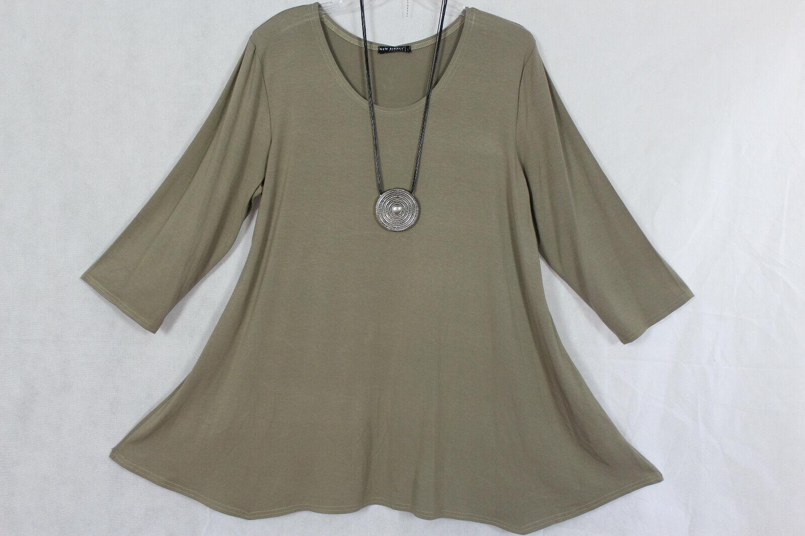 New Jersey Tunika, Shirt, Kleid khaki A-Linie, Gr.XXXL (50/52)