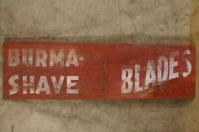 Vintage Burma Shave Blades Advertising Roadside Wood Sign 1920's-1950