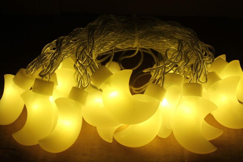 20 LED Moon Crescent Moon Nursery Baby Decor, Fairy String Wall decor, Baby
