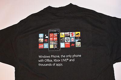 NEW WINDOWS PHONE ADVERTISING T-SHIRT! XBOX LIVE! BLACK/COTTON! COLORFUL LOGO! L