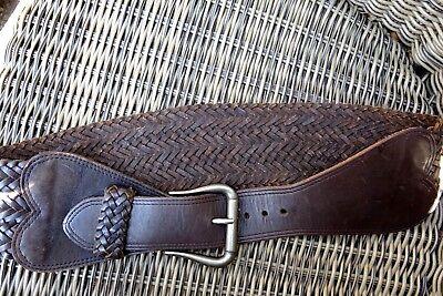 Exkl. starker Ledergürtel hinten geflochten schwere Metallschnalle hochwertig