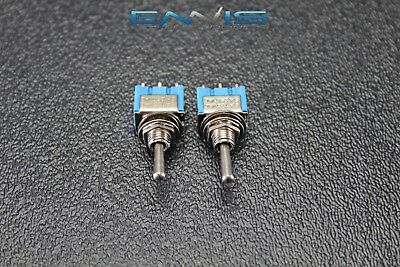 2 Pcs Toggle Switch Spdt On Off On Mini 3 Amp 250v 6 Amp 125v 3 Pin Ec-2533p