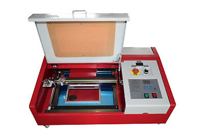 40w Co2 12x8 Inches Laser Engraver Cutter With Rotary Wheels Lcd Screen