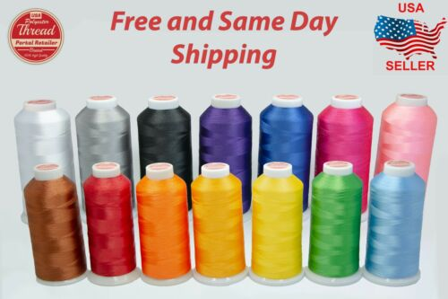 Polyester Sewing Thread 5500 yds Embroidery Design 14 Different Colors