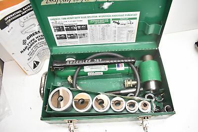 Greenlee 7506 Slug Splitter Hydraulic Knockout Set W 767 Hand Pump 12-2 Cond
