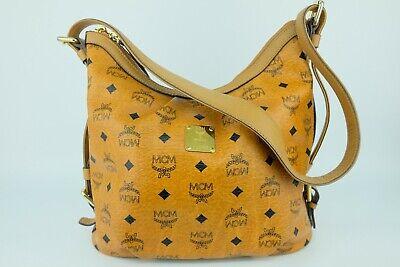 100% Authentic MCM CognacVisetos Hobo Shoulder Bag With Dust Bag