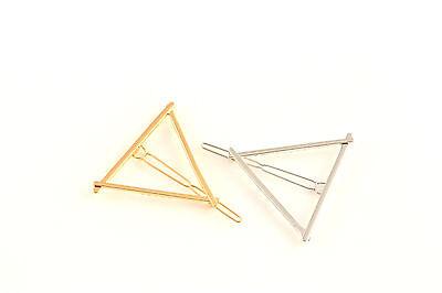 Haarklammer Haarspange Dreieck Triangle gold silber Haarschmuck A525a ()