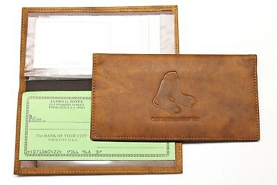 Boston Red Sox Leather Embossed Checkbook Cover by Rico - New In Package (Leather Embossed Checkbook Cover)