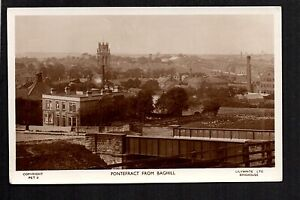 Pontefract from Baghill - real photographic postcard