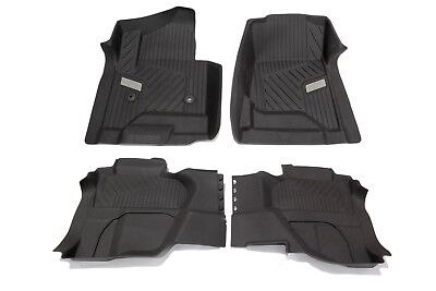 OEM NEW Premium All Weather Floor Mats Front  Rear SET Cocoa Silverado Extended