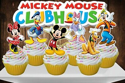 Disney MICKEY MOUSE CLUBHOUSE Cupcake Topper (12pcs)](Mickey Cake Topper)