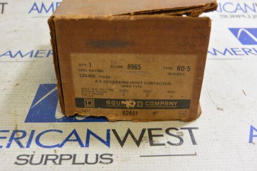 SQUARE D 8965 R0-5 AC REVERSING HOIST CONTACTOR 120V COIL  - NEW