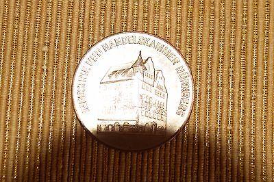 Medaille, Industrie - Handelskammer Nürnberg, F. langj. treue Mitarbeit 40 Jahre