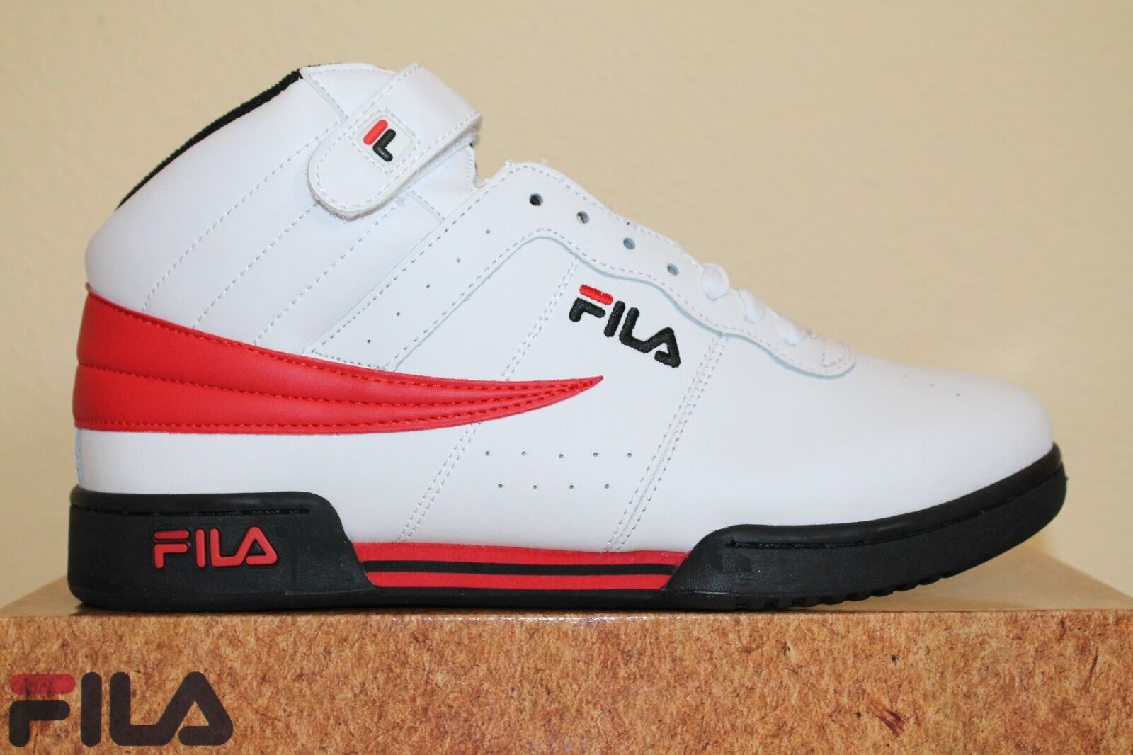 White / Black / Fila Red