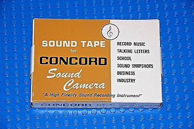 "CONCORD SOUND TAPE   ""SOUND CAMERA""         2 1/2""  BLANK REEL TAPE (1) (SEALED) for sale  Shipping to India"