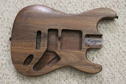 Stratocaster Style Guitar Body Chambered All Walnut Construction