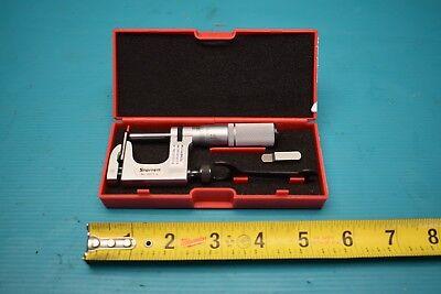 Used Starrett 220xfl-1 No. 220-1 Micrometer Multi-anvil With Case