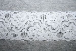2 yards Cream IVORY Off White stretch galloon baby headband doll lace 2