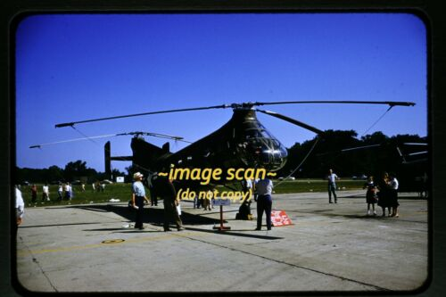 U.S. Army Piasecki H-21 Helicopter at WPAFB in 1954, Original Slide e15a