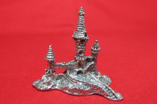 Pewter Castle Figurine With Nice Detail