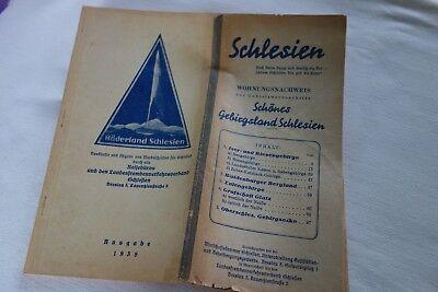Schlesien Wohnungsnachweis 1938 Schönes Gebirgsland Riesengebirge