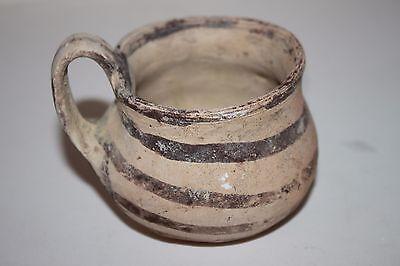 ANCIENT GREEK POTTERY DAUNIAN OLPE MUG 5th BC  WINE CUP
