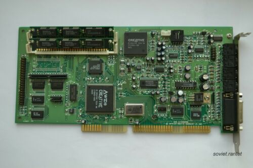 Creative Sound Blaster 32 Model CT3670 ISA Sound Card + 2MB Extra Memory