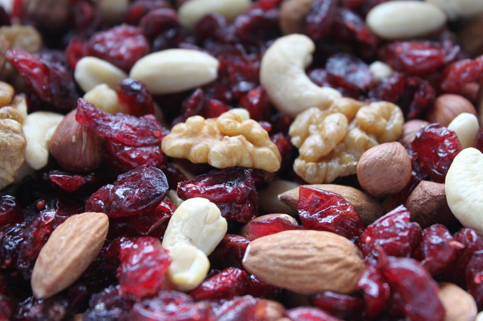 Studentenfutter mit Cranberries (500 – 1000 g) Nussmischung vegan