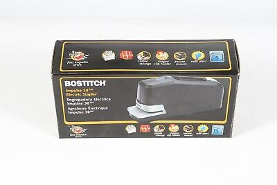 New Bostitch Impulse 30 Electric Stapler Value Kit Black 02638