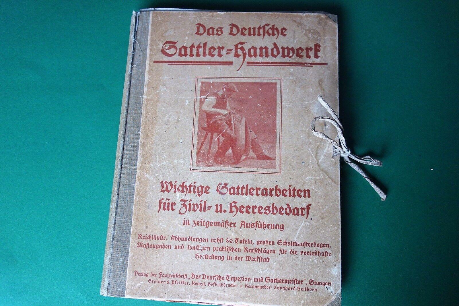Sattler-Handwerk Sattlerarbeiten Heeresbedarf  ca.1919 Armee Kavallerie Pferd