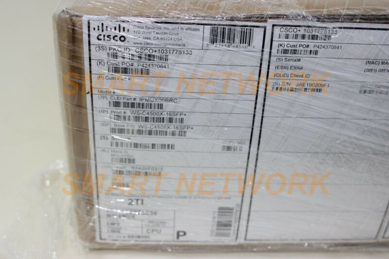 New Cisco Ws-c4500x-16sfp+ Catalyst 4500-x Switch 16 Port 10ge Ip Base