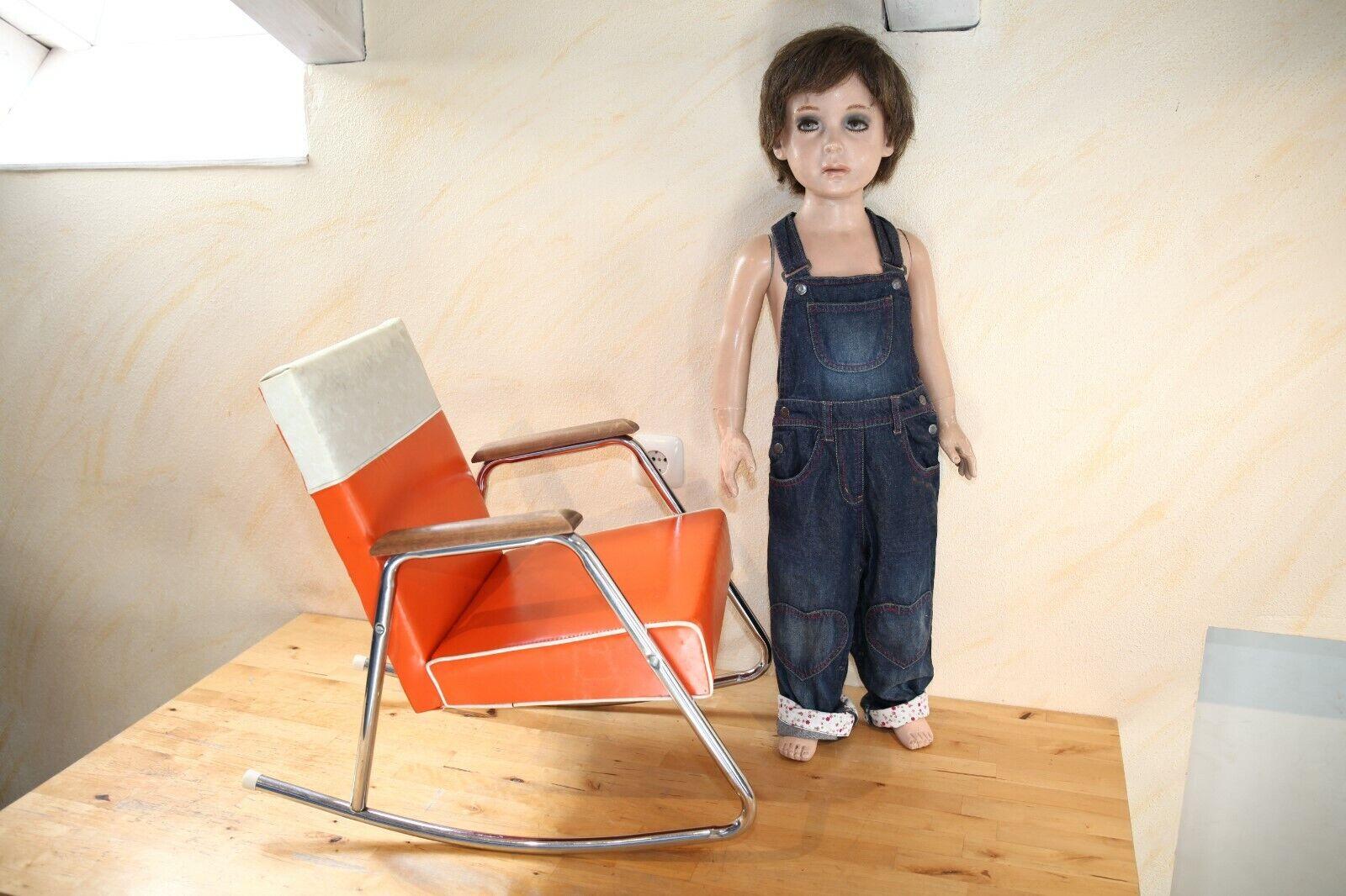 Design Kinder Stuhl, Schaukelstuhl, 1970's, Vintage