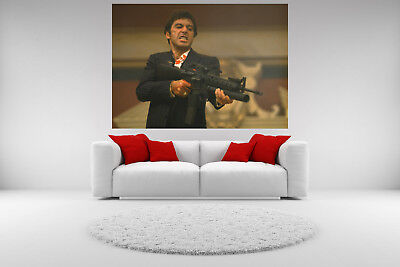 Scarface Al Pacino Canvas Shooting Picture Giclee Print Unframed Home Decor Art