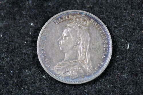 1887 - GREAT BRITAIN Victoria Silver!!  #H17351