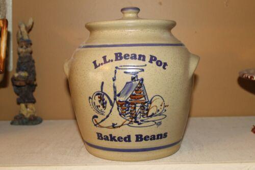 Vintage - L.L. Bean Pot Baked Beans - Pottery Cookie Jar - Stoneware!!  RARE