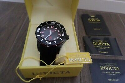 INVICTA 20205 Automatic Grand Diver Gen II 47mm Black/Red Silicone Strap