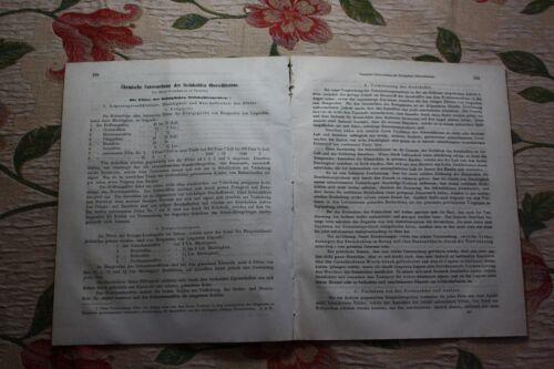 1861 Fragment Zeitschrift Bergbau / 20 Seiten Steinkohle Oberschlesien