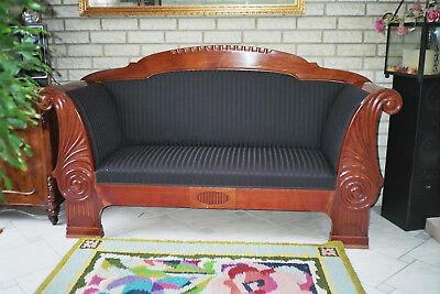Art Deco-Sofa,  Biedermeier-Sofa ca. 1920 mahagoni dänisch