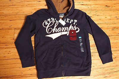 NEW BOYS COAT ZIP HOODIE FLEECE NAVY CHILDRENS PLACE FURRY LINED SIZE XL (Childrens Place Boys Hoodie Fleece)