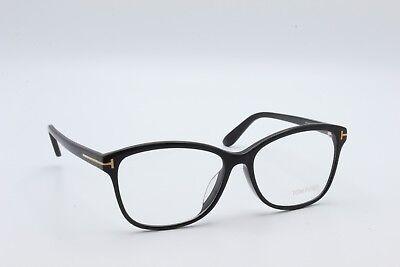 Tom Ford Eyeglasses Men's Classic Rectangular Black TF5404F 001 57 New Authentic