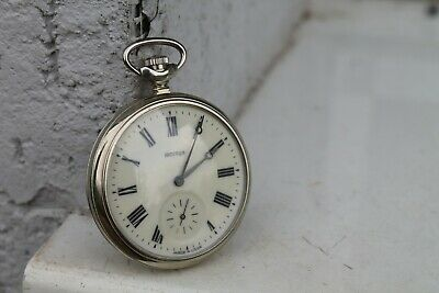 Vintage Old Soviet Russian Molnija Molnia Pocket Watch Serkisof Demirlyolu