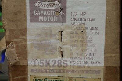 3450RPM DAYTON 1//2HP OIL BURNER AC MOTOR  MODEL# 3K721B  115//230VAC 60HZ