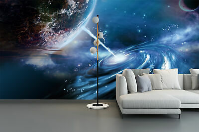 3D Fantasy Space planets Self-adhesive Living Room Wallpaper Bedroom Wall Murals for sale  China