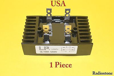 Diode Bridge Rectifier 100a Amp 1200v Volt Metal - Usa Seller 1 Piece