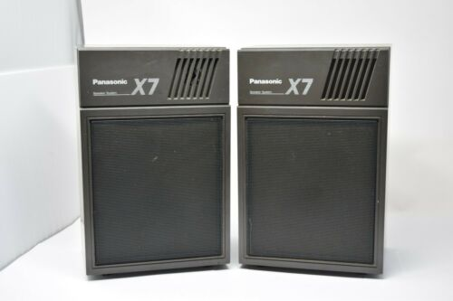 Rare Vintage panasonic sb-x7 square speaker set pair retro 8 ohm Tested Working